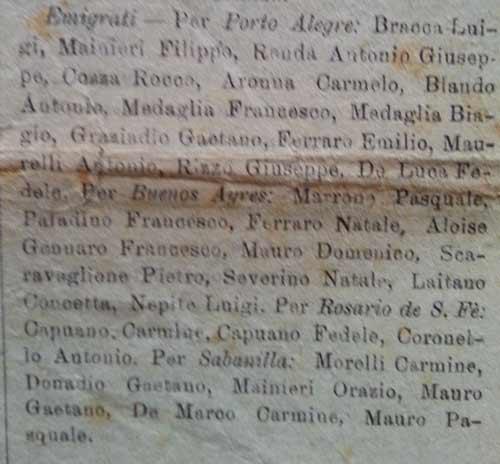 elenco emigrati